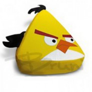 Бескаркасное детское кресло Yellow Angry Bird Medium