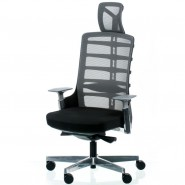 Кресло  руководителя Spinelly black/metallic
