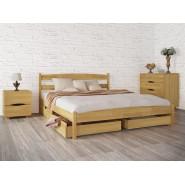 Кровать деревянная Лика без изножья с ящиками двуспальная