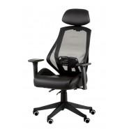 Кресло руководителя с поясничной поддержкой Alto dark