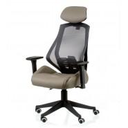 Кресло руководителя с  раскладывающейся спинкой Alto grey