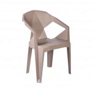 Пластиковое кресло  Muzе taupе plastic