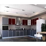 Кухня модульная Винтаж бордо + графит