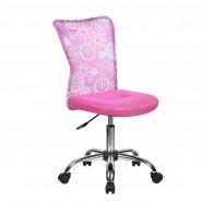 Детское кресло компьютерное с цветочным принтом BLOSSOM pink