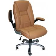 Недорогое кожаное офисное  кресло CLARK, beige