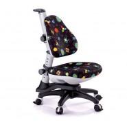 Кресло ортопедическое Ростишка KY-318 Black черное с рисунком