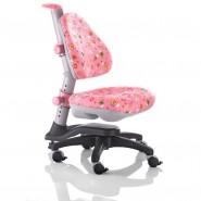 Кресло ортопедическое Ростишка KY-318 PF  розовое с цветами.
