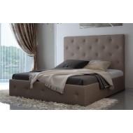 Кровать мягкая с высоким изголовьем Лафеста