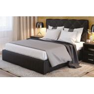 Кровать мягкая с высоким изголовьем Плутон