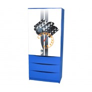 Шкаф детский 182 БМВ синий