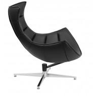 Кресло мягкое Ретро черное