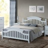 Кровать деревянная белая Lizbona 140