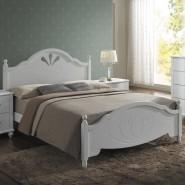 Кровать белая резбленная Malta