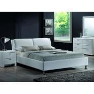 Белоснежная мягкая кровать Mito 140