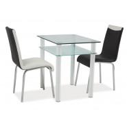Белый стол с полкой Sono 100x60