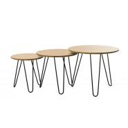 Комплект столиков кофейных CS-15 орех