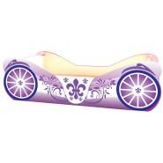 Кровать Карета фиолетовая